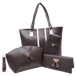 Set Bolsa Cartera cosmetiquera-cafe 26644